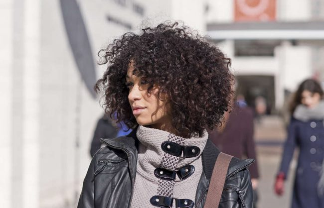 on the street: two little curls
