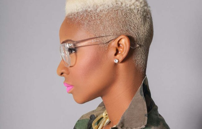 get the look: a blonde natural high-top fade (video)