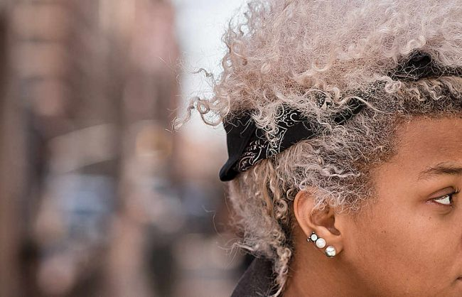 on the street: platinum blond shade