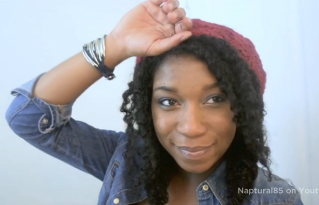 easy bohemian fishtail braids on natural hair (video)