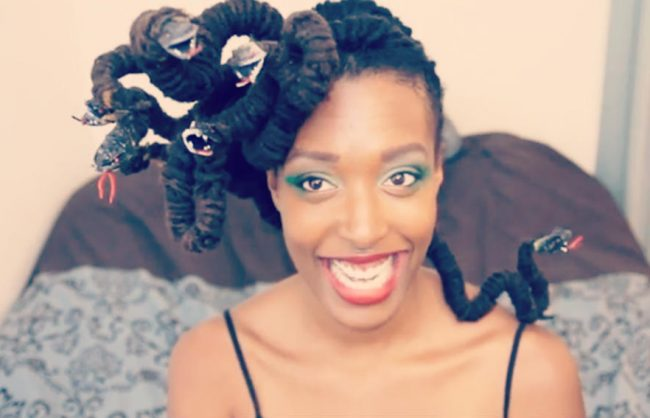 hair-o-ween: medusa-locs (video)