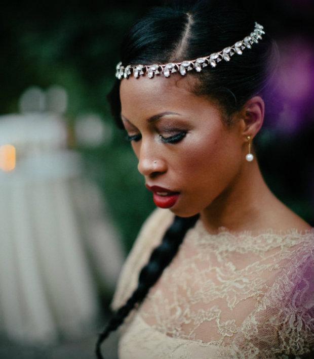 Straightened_SideBraid_RhinestoneHeadband_Bridal_Holiday