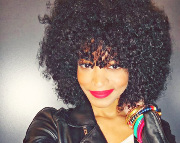 Curly Afro Weave With Bangs Tutorial: afro with a bang (video) un-ruly