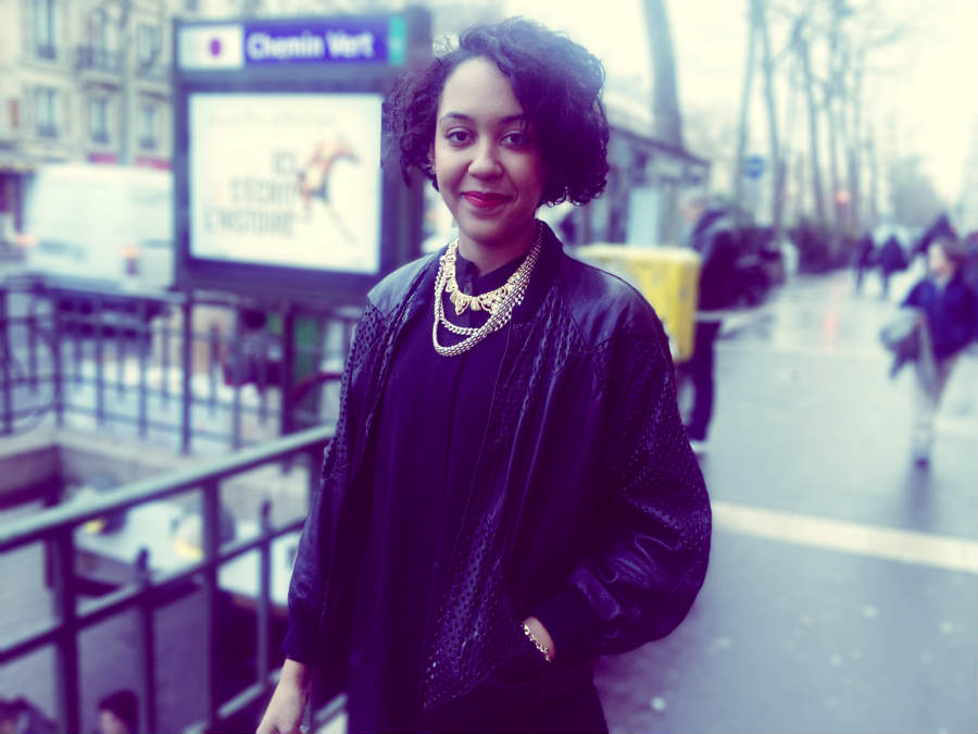 on the street paris: black with a little bit of gold