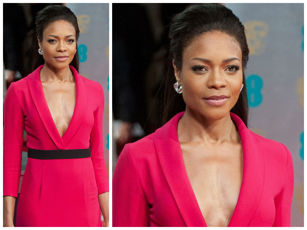 best of award season: naomie harris's half pony tail