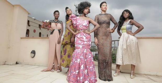 An African City's characters. From left to right: Zanaib, Ngozi, Nana, Makena, Sade.