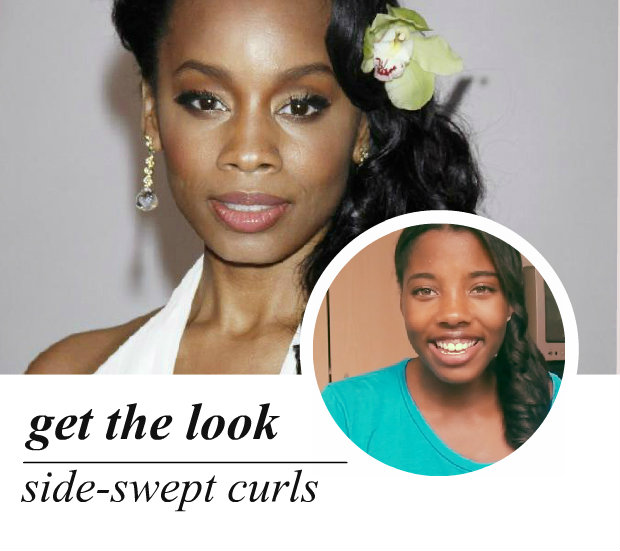 celeb-inspired: anika noni rose's side-swept curls (video)