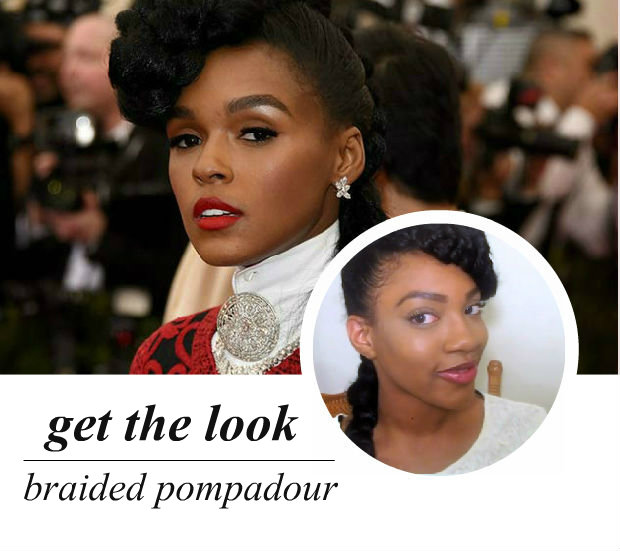celeb-inspired: janelle's braided pompadour (video)