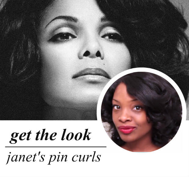 celeb-inspired: janet's pin curls (video)