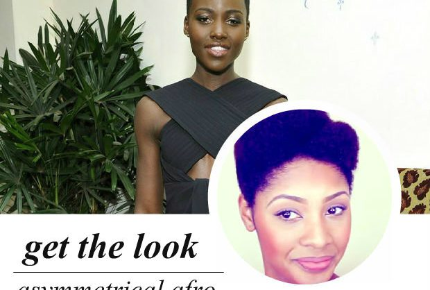 celeb-inspired: lupita's asymmetrical afro (video)