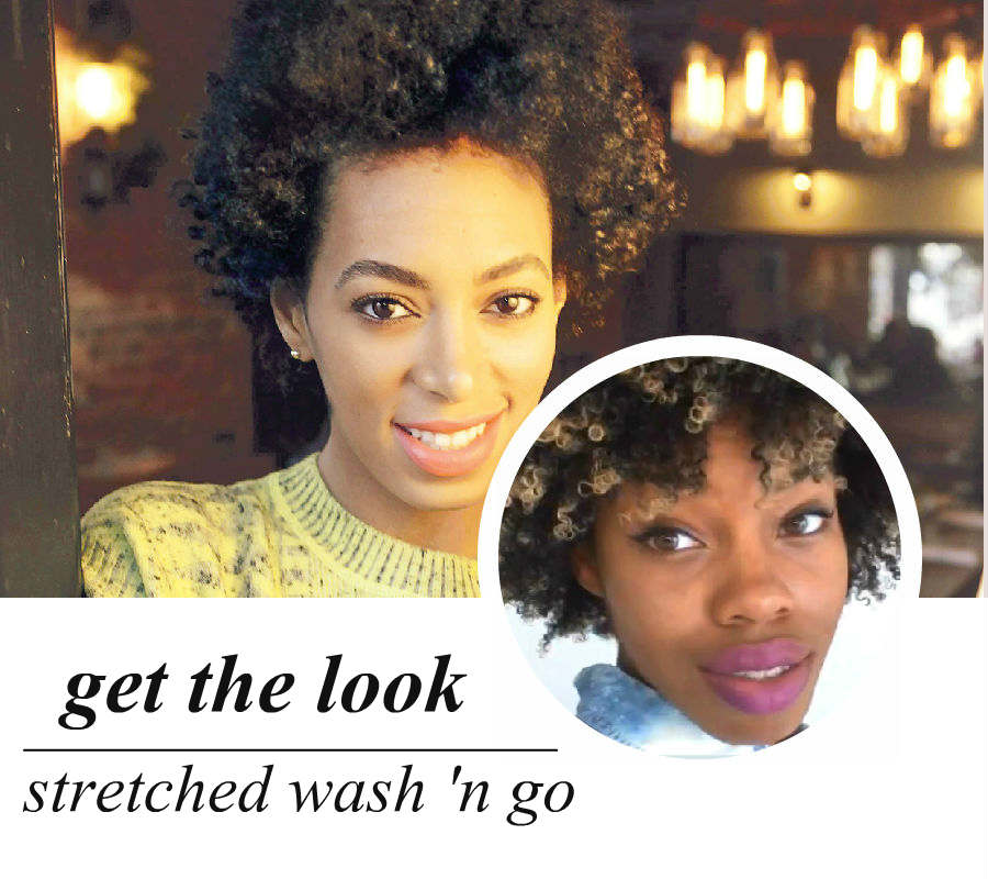 celeb-inspired: solange's wash 'n go (video)