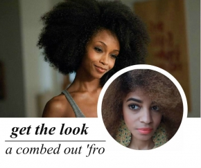 celeb-inspired: yaya's combed out 'fro (video)