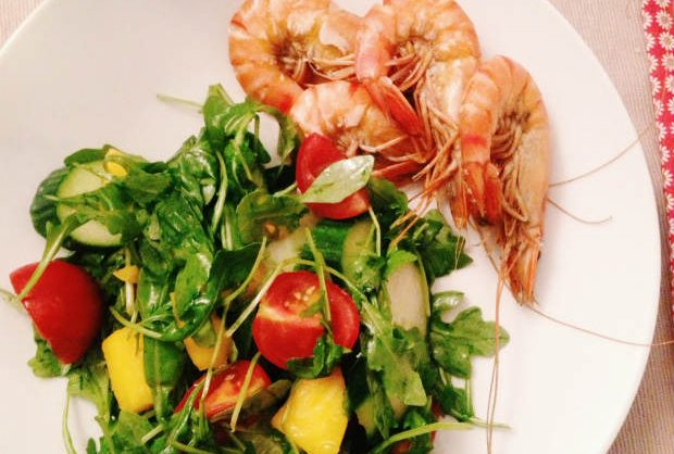 un'ruly life: mango salad with shrimp, #eatpretty