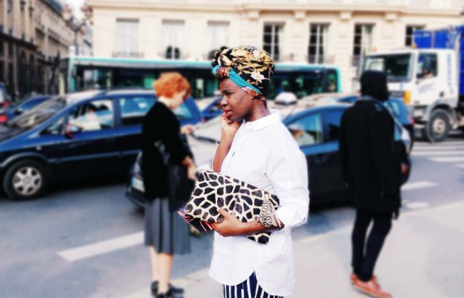 on the street, paris: a chic head wrap