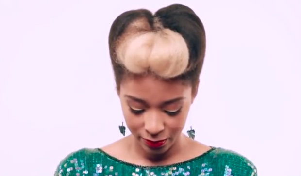 holiday hair: a natural pompadour