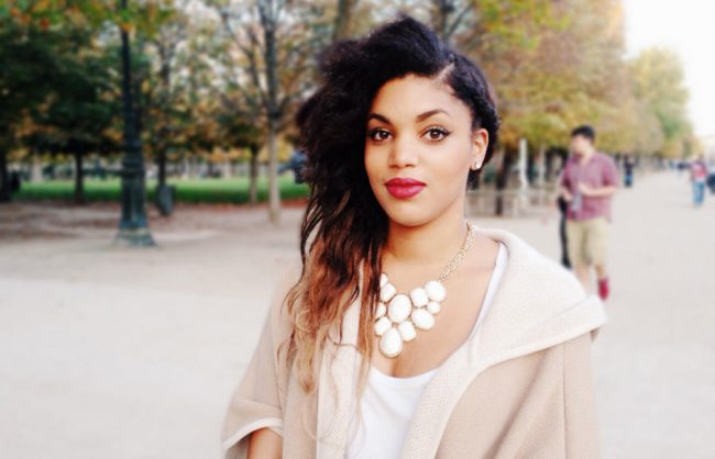 on the street, paris: side swept waves
