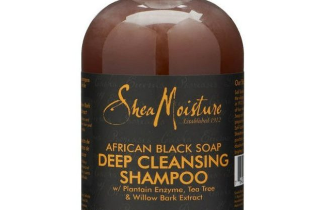 product review: shea moisture's african black soap deep cleansing shampoo