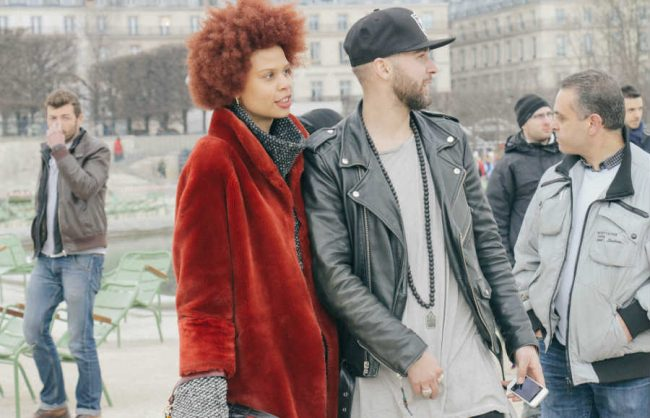 on the street, paris: jade's red afro