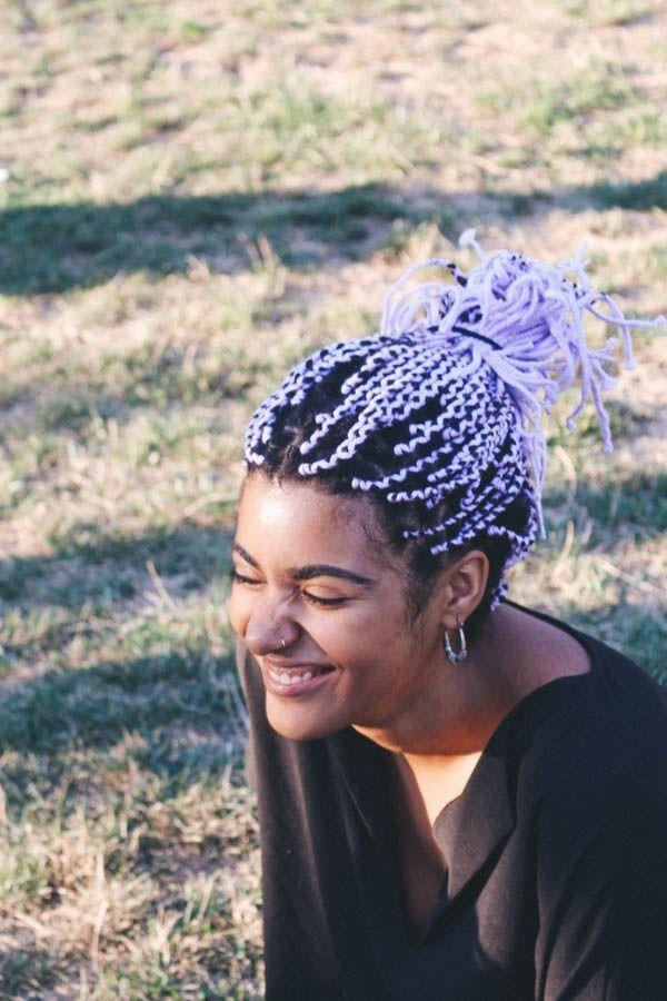 AfroPunk2015_BlackHair_Natural_Yarn_Purple_Lilac_Braids_Ponytails-compressor