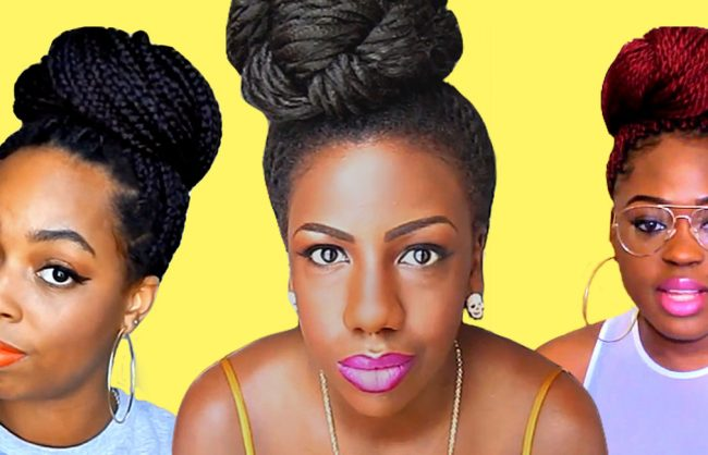 Three Ways to Create a Box Braid (or Twists) Bun