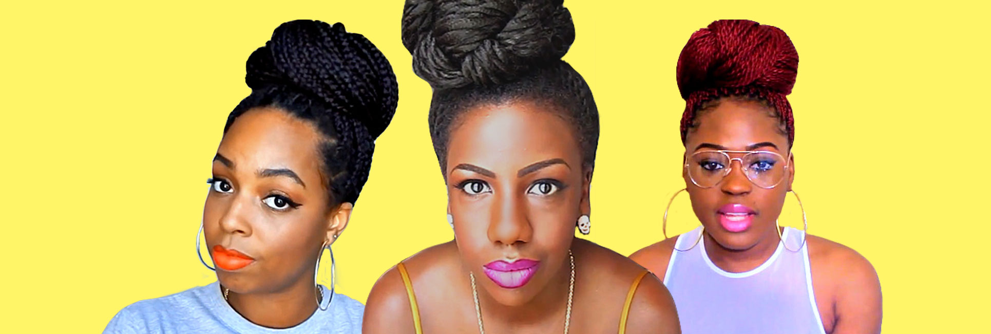 Three Ways To Create A Box Braid Or Twists Bun Un Ruly
