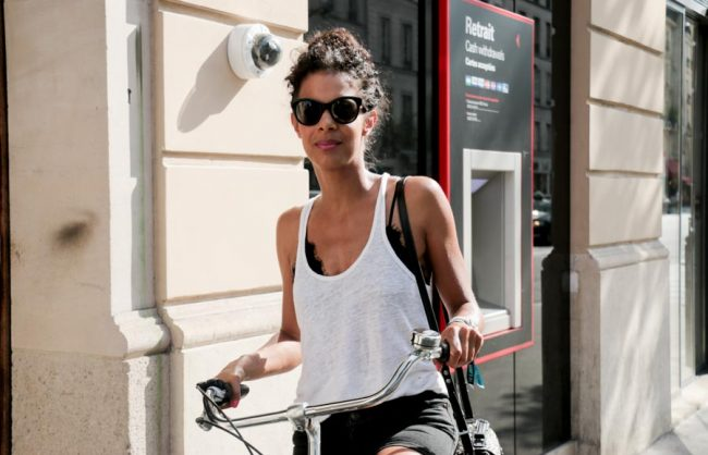 On the Street, Paris: A Care-free Bun
