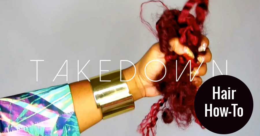 Tutorial: Taking Out Faux Locs (Video)