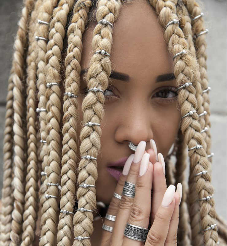 Blonde Crochet Box Braids : Three Ways to Bling Out Your Box Braids With Jewelry