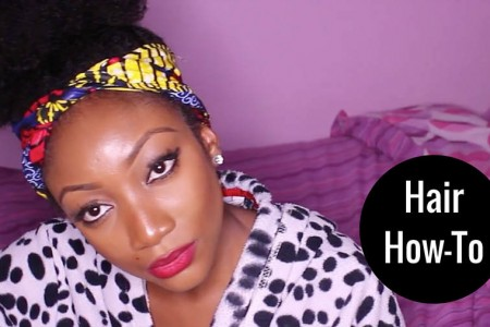 afro puff tutorial