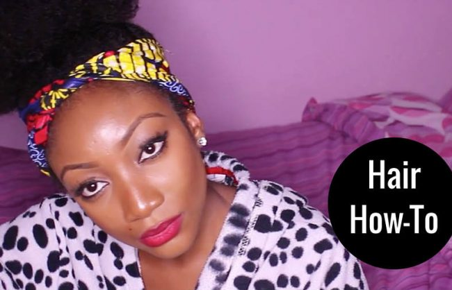 How To: Afro Puff on 4C Hair
