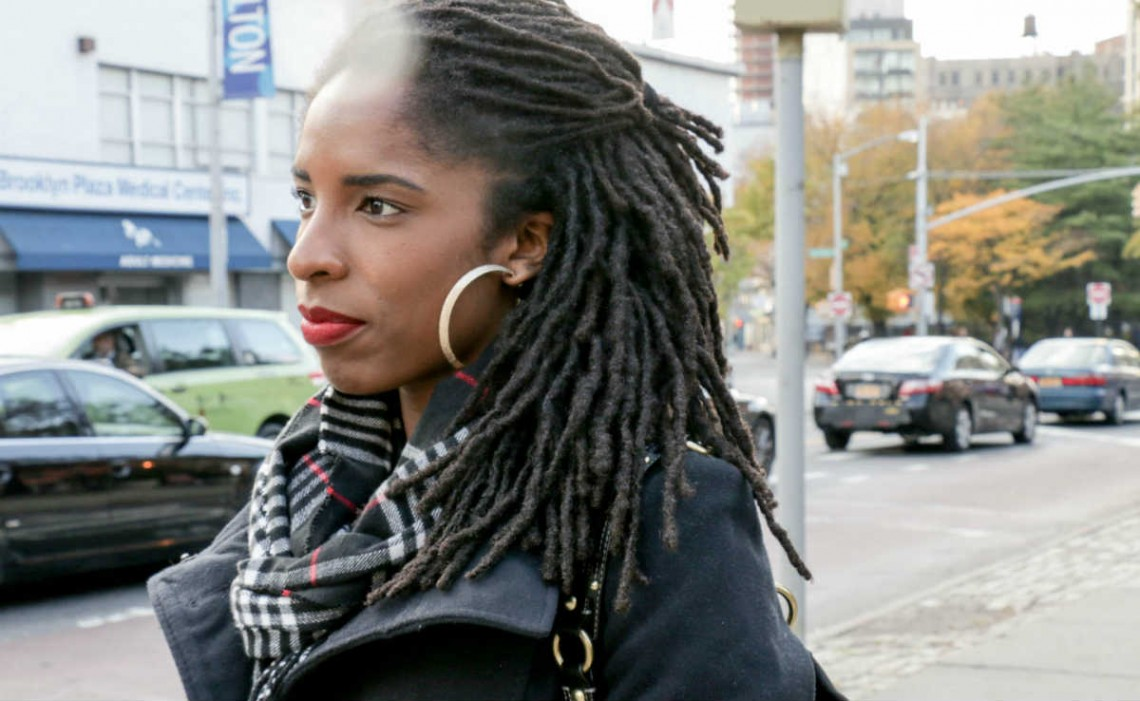 On the Street, NY: Side-Swept Locs in Brooklyn