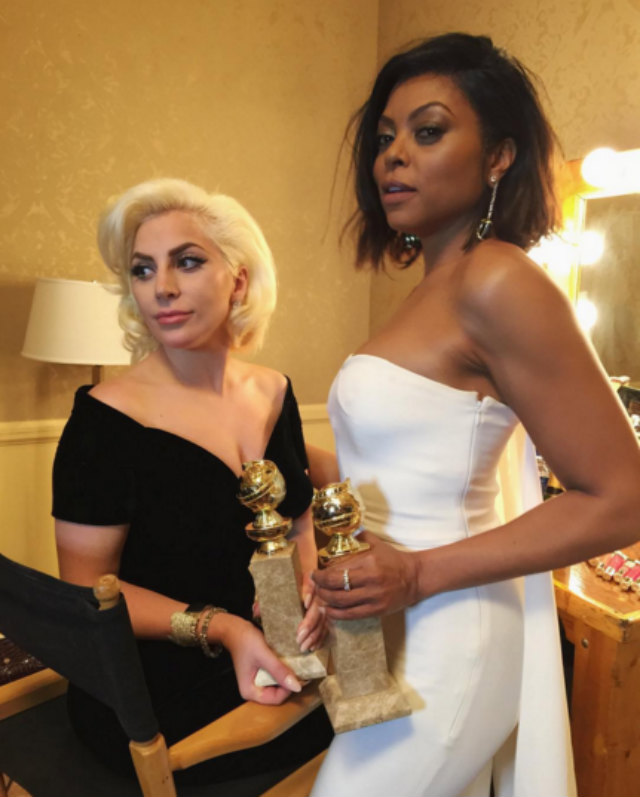 Black_Hair_TarajiP.Henson_Lady_Gaga_GoldenGlobes