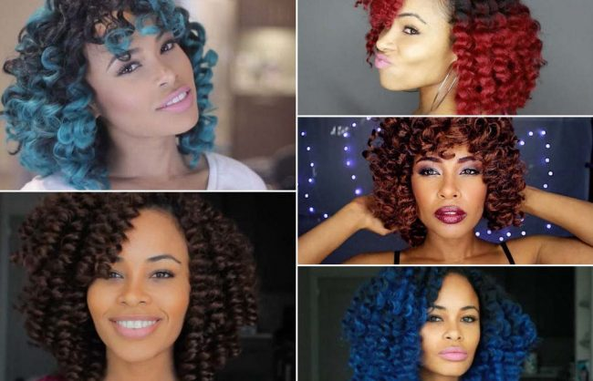 Crochet Braids in Five Colors with Sadora Paris