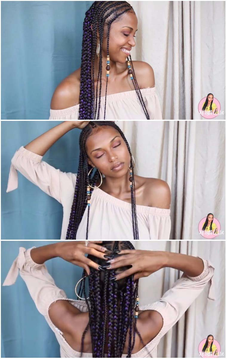 simple festival braids fulani braids