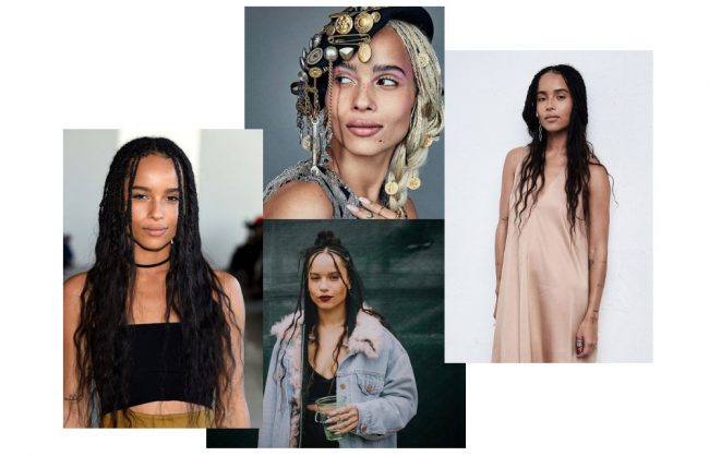 Zoe Kravitz and The Boho Box Braids Trend
