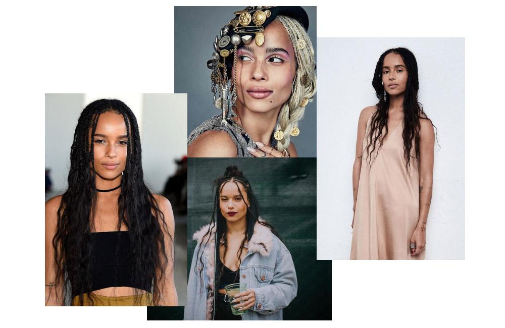 Zoe Kravitz and The Goddess Box Braids Trend