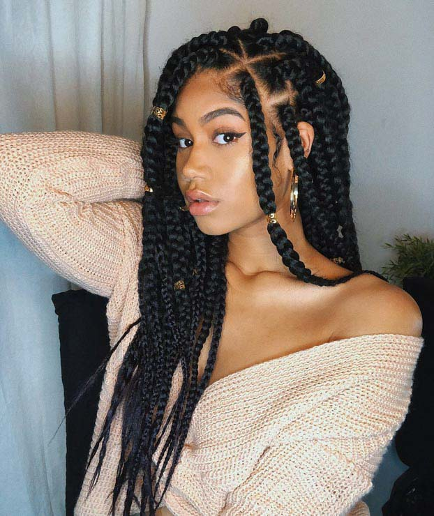 The Complete Guide To Box Braid Sizes Un Ruly These are a more durable version of the knotless braids and super light looking. the complete guide to box braid sizes
